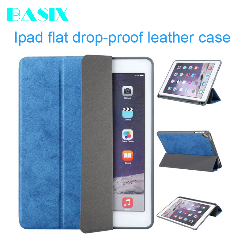 Case For Ipad Pro 9.7 Inch 2016 Release A1673 A1674 A1675 6th With Pen Tray Smart Sleep Wake Vintage PU Leather Shell Case