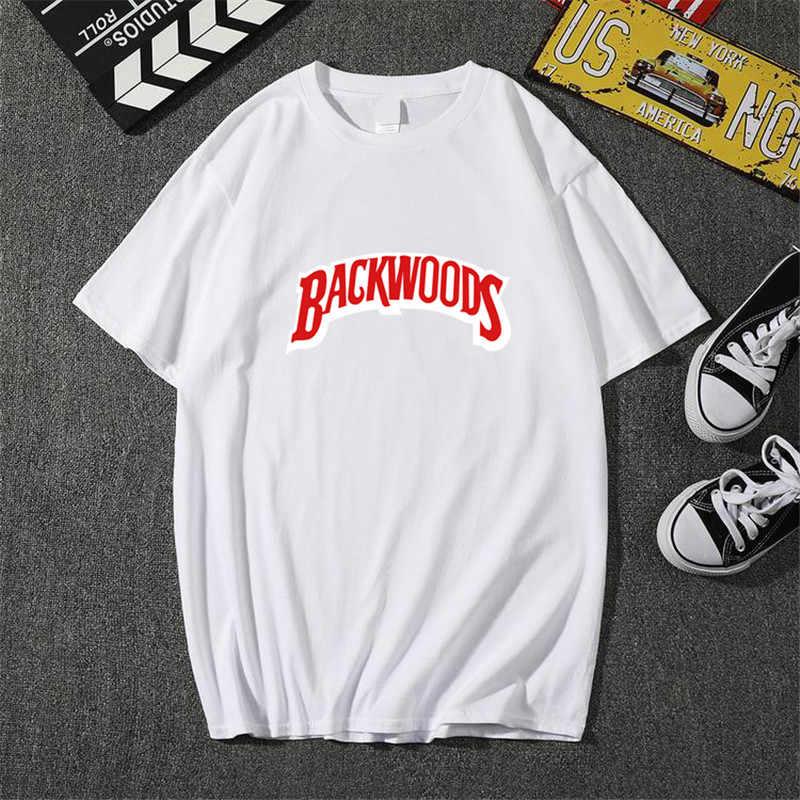 사용자 정의 TShirt Backwoods 여름 남자 티셔츠 패션 남자 짧은 소매 O 넥 t-셔츠 코 튼 힙합 락 Streetwear