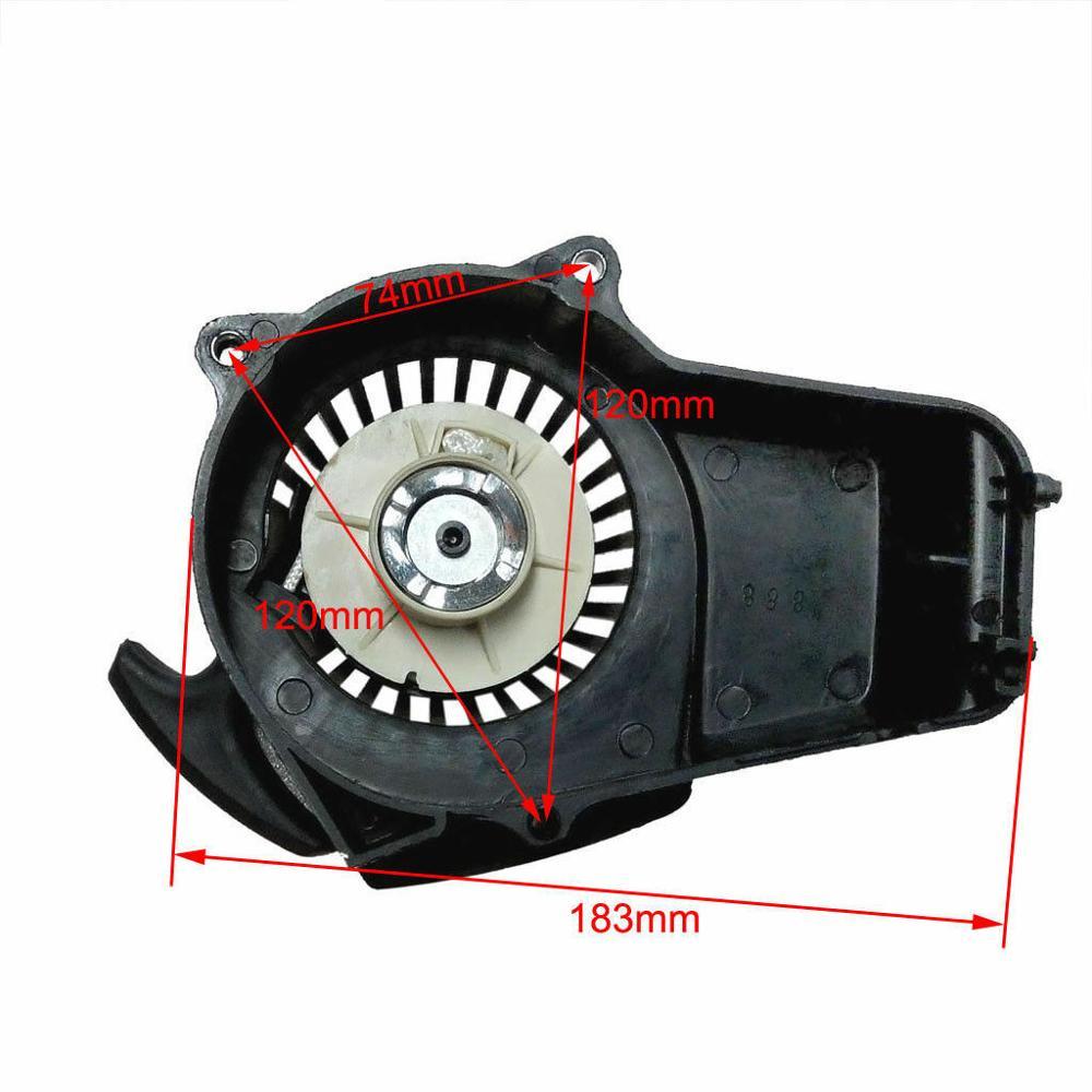 Потяните старт стартер 2 тактный двигатель 47cc 49cc ракеты Карманный Dirt Bike ATV мини Детали и аксессуары для мотовездехода      АлиЭкспресс