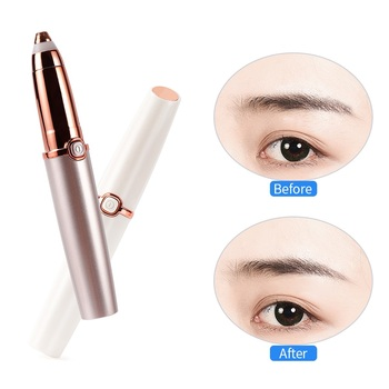 Portable Electric Brow Shaping Trimmer Eyebrow Pen Mini Epilator For Women Face Painless Hair Remover