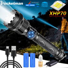 Super Powerful XHP70 LED Flashlight LED