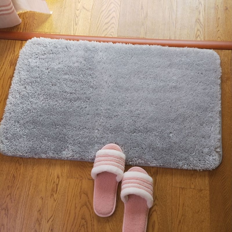 Machine Washable Bathroom Absorbent Cushion Soft Bedroom Doormat Mat Mat Gray Fashion Small Mat