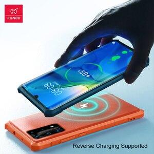 Image 5 - XUNDD עמיד הלם מקרה עבור Huawei P40 פרו מקרה טבעוני עור מגן כרית אוויר פגוש כיסוי מעטפת עבור Huawei P40 פרו כיסוי