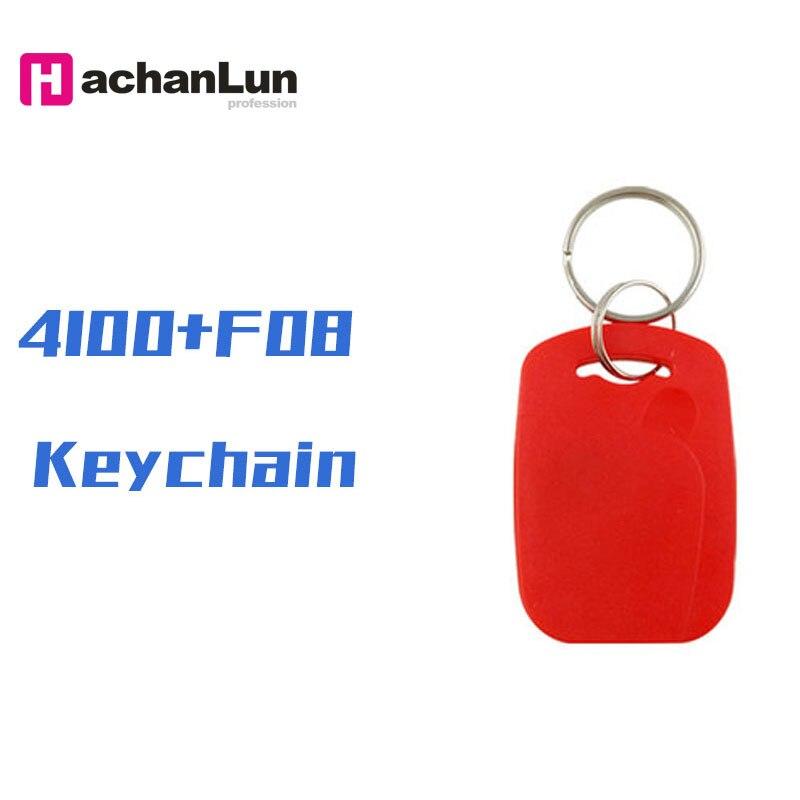 10/20/50PCS 4100 + F08 RFID Smart NFC Dual Chip IC + ID Composite Keychain 125KHZ 13.56MHZ EM4100 TK4100 + S50 Fudan Keychain