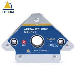 LISHUAI 2''/ 3''/4'' Multi-angle Magnet Welding Holder 45/90/135 Arrow Magnetic Clamp for Welding Magnet 28Lbs/55Lbs/110Lbs(China)