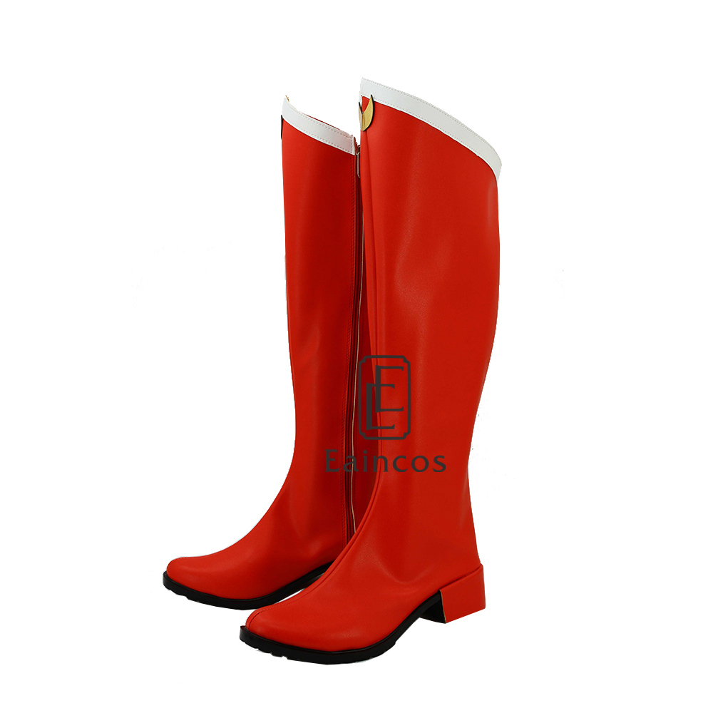 New Anime Sailor Moon Sailormoon Girls Red Cosplay Party Shoes Boots Customized Size