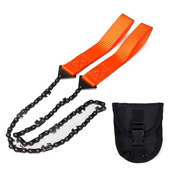 Portable Survival Chain Saw Chainsaws Emergency Camping Hiking Tool Pocket Hand Tool Pouch Outdoor Pocket Chain Saw 1