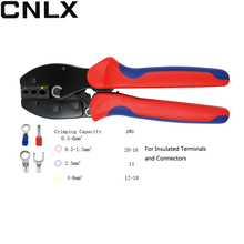 LY-30J  Crimping Pliers For Insulated Terminals and Connectors crimping capacity 0.5-6.0mm2 AWG 20-10 Mini multi-function pliers 1pcs ap 04wfl new generation of energy saving crimping pliers 0 5 4mm2 20 12awg insulated