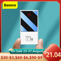 Baseus-Mini banco de energía, 20000mAh, USB C, PD, QC, 3,0, 10000mAh, cargador de batería externo portátil para iPhone 12, 11 Pro, Xiaomi