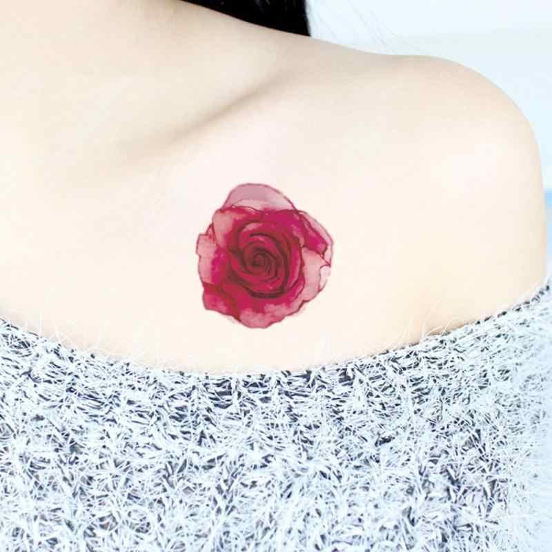 Wodoodporna tymczasowa naklejka słodkie zwierzaki kwiaty tatuaż 3D czarny trójkąt Horror tatuaże ciało ramię mężczyźni fałszywe tatuaże tatuaże do ciała