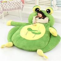 [Funny] Very cute cartoon Sleeping Bag soft animal Frog Monkey Bear Cat Bed Carpet Tatami Sofa mat Beanbag plush toy kids gift
