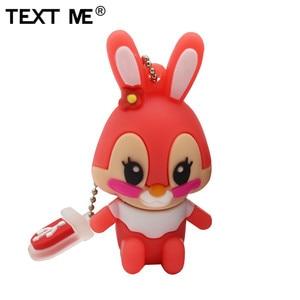 Image 4 - TEXT ME 64GB usb flash drive usb 2.0 4GB 8GB 16GB 32GB  pendrive cute gray pink model rabbit cartoon usb