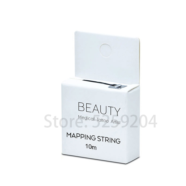 Pre-Inked Brow Mapping String 10Meters Microblading, Microshading Cosmetic Tattooing Tool for Permanent Makeup Eyebrow Measuring 2