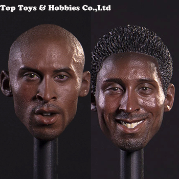 In stock 1/6 Scale Basketball star Kobe Bean Bryant Head Carving Model Collectible Doll Toys Accessories