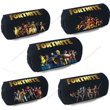 Fortnite Pencil Case Student Kid Black Pencilcase Anime Large Capacity Pencilcase Game Toys School Supplies Stationery Boys Gift