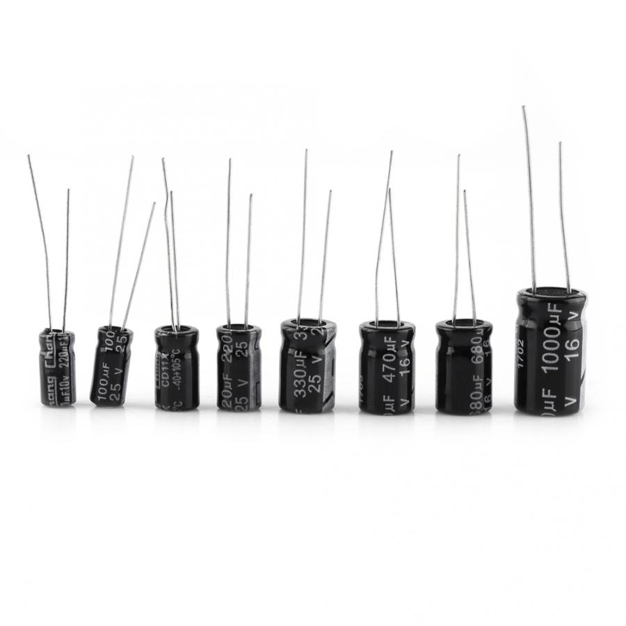500X Radial Electrolytic Capacitor Assortment Kit 24 Value 10V-50V 0.1uF-1000uF