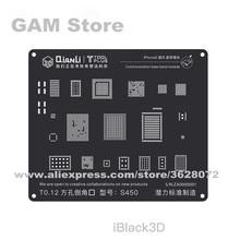 QIANLI iBlack 3D Baseband BGA Stencil iPhone 5 5S 6G 6 artı 6S 6SP 7 7P 8 8P Wifi güç IC Reball lehim çelik ızgara teneke Net