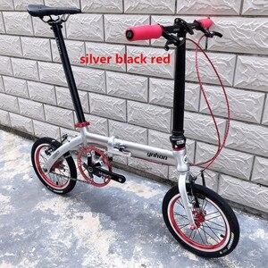 Image 2 - YNHON พับจักรยานอลูมิเนียมล้อแม็ก 412 14/16 นิ้วความเร็วสูงนอกสามความเร็วสูงเด็กจักรยานเด็ก MINI การปรับเปลี่ยน