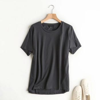 Withered Summer T shirt Women England Style Simple Solid O-Neck Cotton Match Basic Harajuku Tshirt 9