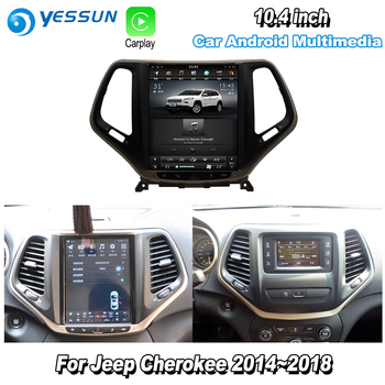 YESSUN 10.4'' HD Super Screen For Jeep Cherokee 2014~2018 Car Android Carplay GPS Navi maps Navigation Player Radio no CD DVD