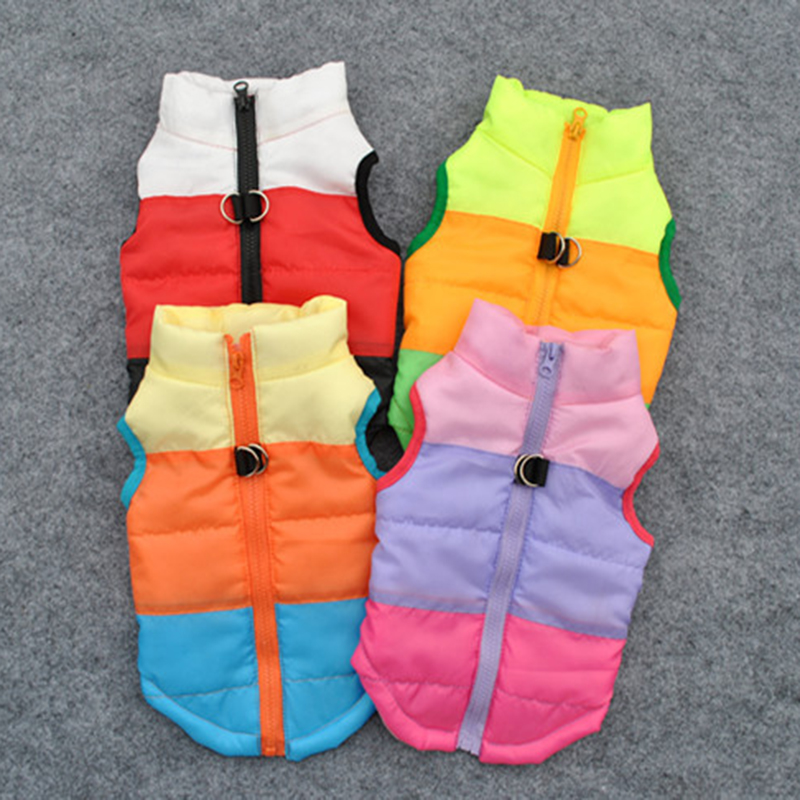 Waterproof Pet Dog Vest Padded Puppy Coat Jacket Warm Winter Dog Clothes For Small Medium Large Dogs Chihuahua Clothing Apparel
