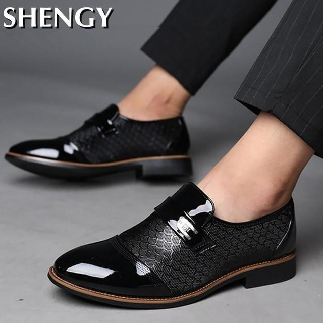 Genuiner Leather Embossing Classic Business Shoes 6