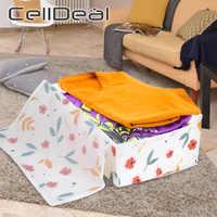 Bolsa de almacenamiento plegable para colcha de flores, PEVA colcha de para el hogar, ropa, almohada, manta, equipaje de viaje, caja de almacenamiento portátil
