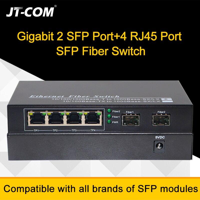 Image 4 - 10 port Gigabit Ethernet Network Switch 1000M Media Converter 2 sfp fiber port and 2 4 8 rj45 port 2G4E Fiber Optic Transceiver-in Fiber Optic Equipments from Cellphones & Telecommunications