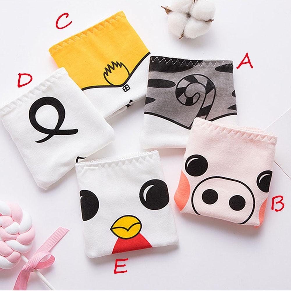Cartoon Animals Printing Seamless Underwear Women Sexy Panties Comfortable Briefs Lingerie