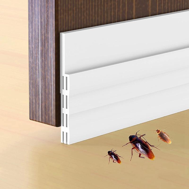 New Door Draft Stopper  Under Door Draft Blocker Strong Self Adhesive Door Seal Strip  Silicone Weather Stripping Dustproof And|Sealing Strips| |  - title=