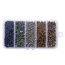 500pcs/set  4mm Glass Beads for DIY Jewelry Making Loose Findings&Components
