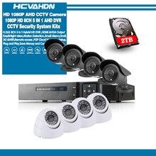 HD 8 채널 홈 감시 시스템 8CH AHD DVR 키트 2.0MP 1080P 3000TVL CCTV 보안 카메라 시스템 1 테라바이트 HDD cctv 카메라 세트