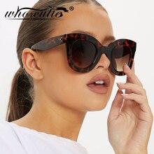 WHO CUTIE Oversized Cat Eye Flat Top Sunglasses Women 2019