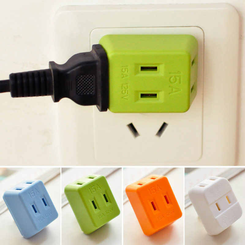 Charging Plug Portable Electrical Outlet Wall Plug Travel Power Strip Triple Tap Travel Adapter Splitter Power Socket 6ZCF128