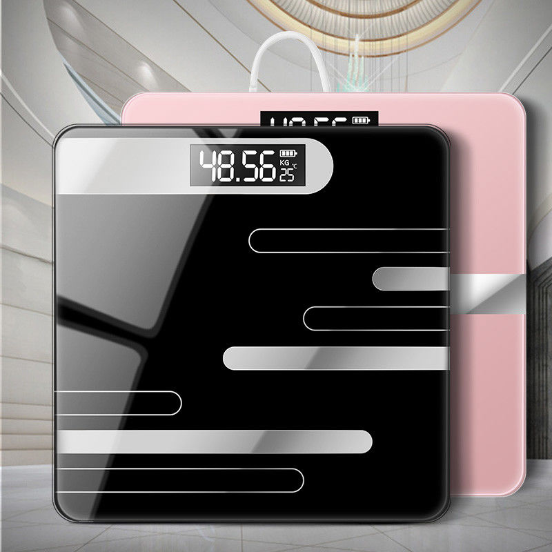 Bathroom Body Floor Scales Bath Scale Glass Smart Electronic Scales LCD Display Body Weighing Digital Body Weight Scale Bathroom Scales     - title=