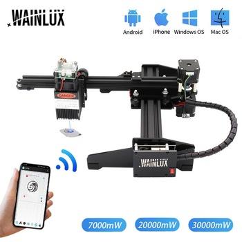 WAINLUX 7W 20W pulpit grawer laserowy i frez-laserowa maszyna do grawerowania i cięcia-drukarka laserowa-laserowy Router CNC tanie i dobre opinie CN (pochodzenie)
