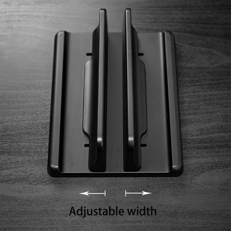 Вертикальная подставка для ноутбука, алюминиевый двойной держатель для ноутбука с регулируемой док станцией, совместимый с Chromebook/игровыми ноутбуками (до 17,3 дюймов|Подставка для ноутбука|   | АлиЭкспресс