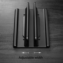 Вертикальная подставка для ноутбука, алюминиевый двойной держатель для ноутбука с регулируемой док-станцией, совместимый с Chromebook/игровыми ...