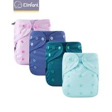 Elinfant 1 Pcs Baby Waterproof Diaper Cover Multiple Colour Reusable Washable Eco-friendly Adjustable Cover Fit 3-15kg Baby