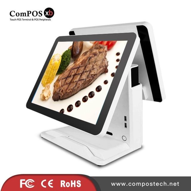 Système de point de vente tactile capacitif tout-en-un, Terminal à double écran, 15 + 15 pouces, pour magasin de détail 1