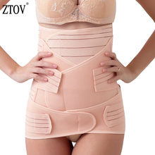 ZTOV 3 Pieces/Set Maternity Postnatal bandage After Pregnancy Belt Underwear Intimates Postpartum Belly Band for Pregnant Women(China)
