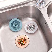 3 шт./компл. Кухня Ванная комната, Сливная крышка улавливатель волос дуршлаг фильтр сетка для раковины 35EE