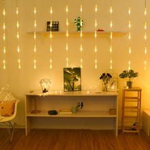 2.5Mx0.6M Water Droplets Curtain Light  Indoor Outdoor Christmas Garlands Waterproof Fairy String Wedding Party Decoration