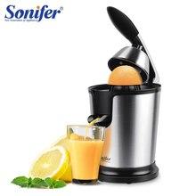 스테인레스 스틸 오렌지 레몬 전기 Juicers 160W 과일 압착기 신선한 주스 가정용 Sonifer