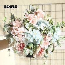 1 букет камелии, искусственные пионы, розы, шелковые искусственные цветы, свадебные цветы, сделай сам, для дома, сада, вечерние украшения