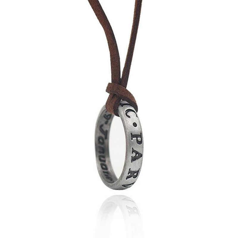 Uncharted 4 Nathan Drake's zespół w stylu vintage Cosplay pierścień skórzany kod naszyjnik