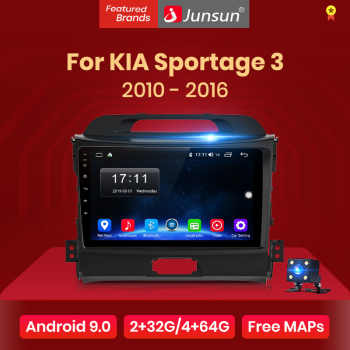 Junsun V1 2G+32G Android 9.0 DSP Car Radio Multimedia Video Player Navigation GPS 2 din For KIA Sportage 3 2010 2011-2016 no dvd