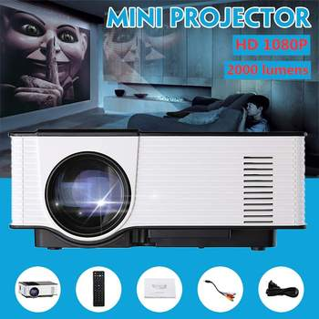Mini LCD Projector Full HD 1080P 3D LED Projector 2000 lumens Portable Home Theater WiFi bluetooth Android Android HDMI/USB/VGA