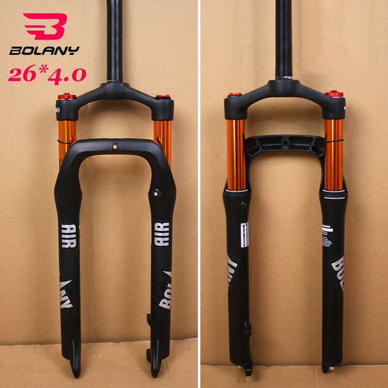 """LUTU 1-1//8/"""" Fat Bicycle Suspension Fork 4.0 Tire 135mm Beach Snow Bike Air Forks"""