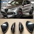 Для Alfa Romeo Giulia 952 Stelvio 949 2016-2019 аксессуары 100% Настоящее углеродное волокно боковое зеркало крышка запасные крышки оболочка